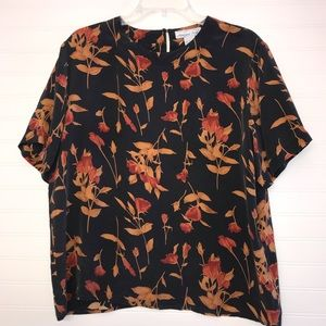 Anna and Frank Floral 100% Silk Blouse